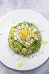 Shaved brussel sprout salad