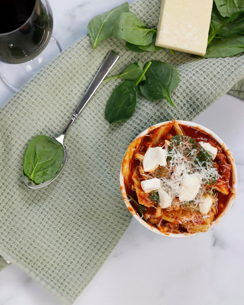 Add spinach to this easy delicious lasagna soup for more health benefits.