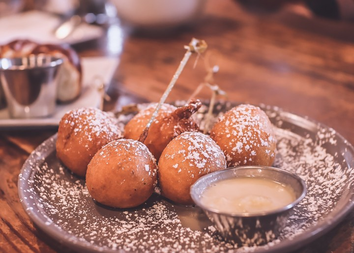 Joe's Cafe, LAMBT, Vanessa, Life Of Torres, Fried Sausage Pancake Balls