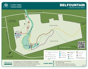 Hiking Trails in Ontario, Best Hiking Trails in Ontario, Things to See in Caledon, Belfountain Conservation Area Trail Map,