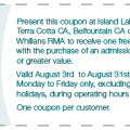 Conservation Areas Coupon, Terra Cotta Conservation Area Coupon,