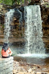 Yoga by Waterfalls, Waterfalls in Ontario, Hiking trails in Ontario, Halton Falls Conservation Area,