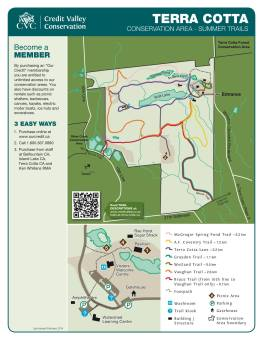 Hiking Trails in Ontario, Terra Cotta Conservation Area Map, Hiking Trails Map Ontario, Things to see in Ontario,