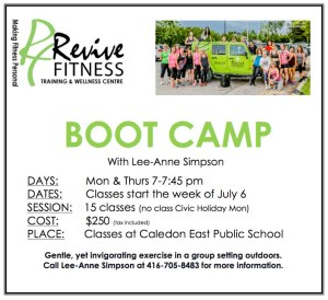 Boot Camps Caledon, Boot Camps Bolton, Caledon Fitness Classas