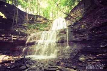 Waterfalls Along The Bruce Trail, Hiking Ontario, Beautiful Places in Ontario, Waterfalls in Ontario, Hamilton Waterfalls, Sherman Falls,