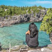 The Bruce Trail, Indian Head Cove Bruce Peninsula, beautiful Places in Ontario, Must see Places in Ontario, Hiking Trails Ontario,