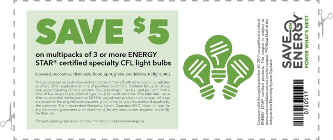 Printable Coupons, Lightbulb Coupons, Canada Coupons,