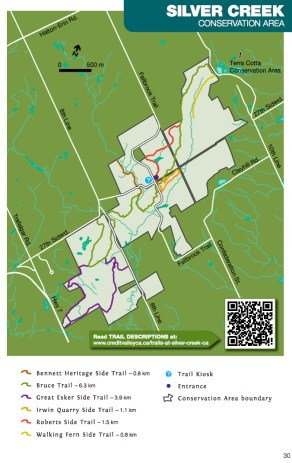Credit Valley Conservation Area, Ontario Hiking, Beautiful Places in Ontario, Bruce Trail Map, Hiking Trails Ontario, Silver Creek Conservation Area Map,