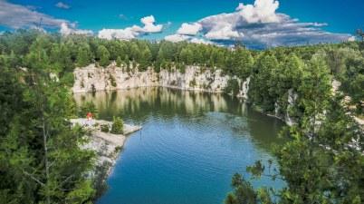 Elora Quarry, Beautiful Swimming Area Ontario, Elora Ontario,