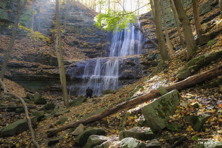 Fall Hikes Ontario, Hiking trails Ontario, Sherman Falls, Hamilton Waterfalls, Best Ontario Waterfall,