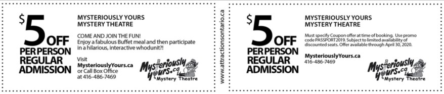 Mysteriously Yours Theatre Coupon