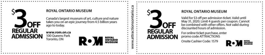 Royal Ontario Museum Coupon
