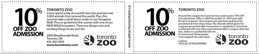 Toronto Zoo Coupon