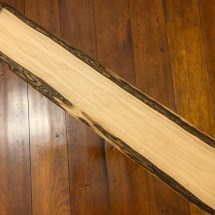 Beautiful Live Edge Light Walnut Charcuterie/Serving Board with handles and personalized engraving included 37 by 7in inches $170.00