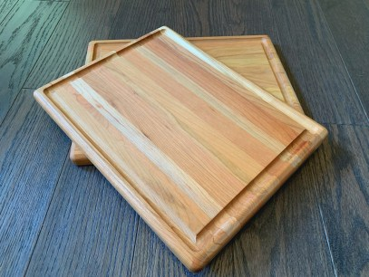 """Maple serving/cutting board with bottom corner personalized engraving 10"""" x 13"""" $80 (4 available)"""