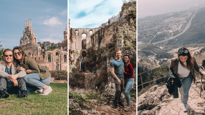Three spots in Southern Spain -Ronda Bridge, Benalmadena viewpoint and Colomares Castle