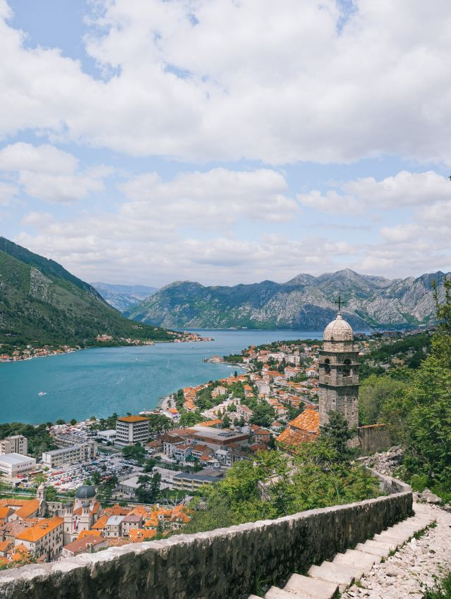 View Bay of Kotor from City Walls