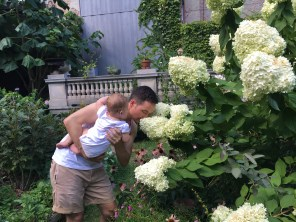 learning the art of smelling flowers