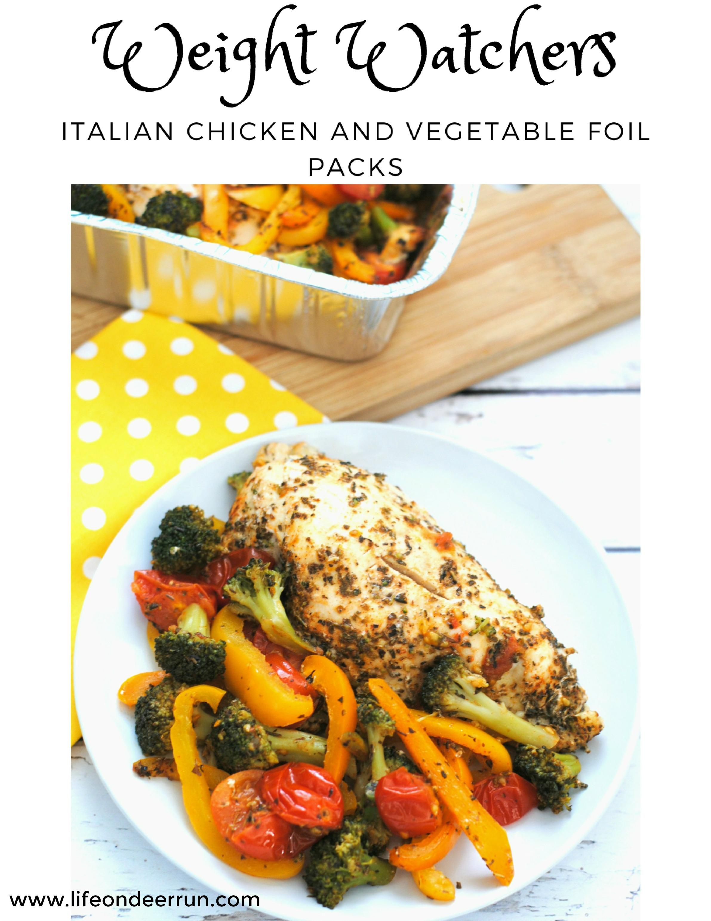 Weight Watchers Italian Chicken and Vegetable Foil Packs