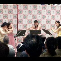 音楽祭にてフルート四重奏コンサート