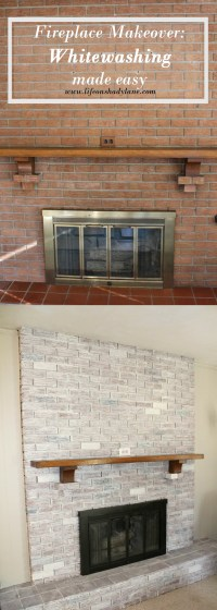 How to Whitewash a Brick Fireplace | Life on Shady Lane