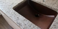 Copper sink and granite countertops - a modern farmhouse ...