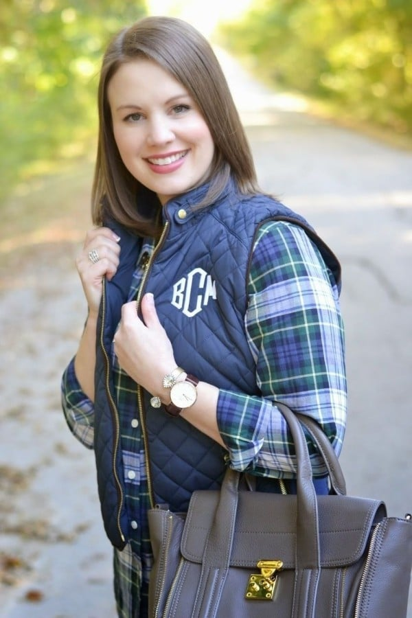 Monogram history and etiquette www.lifeonsummerhill.com www.tinytulip.com diamond font quilted navy vest fall winter