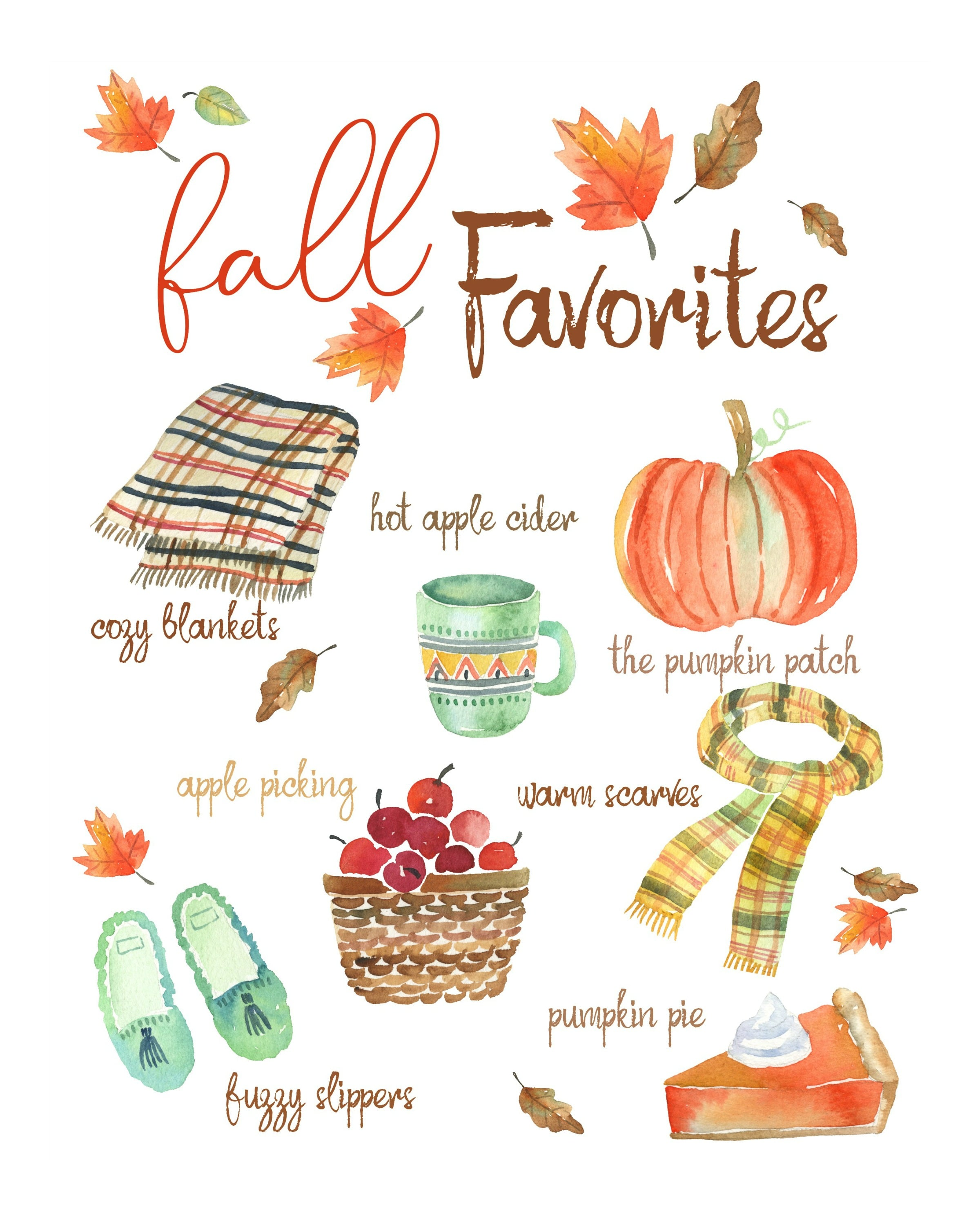 Free Fall Printables That Say Hello To Fall