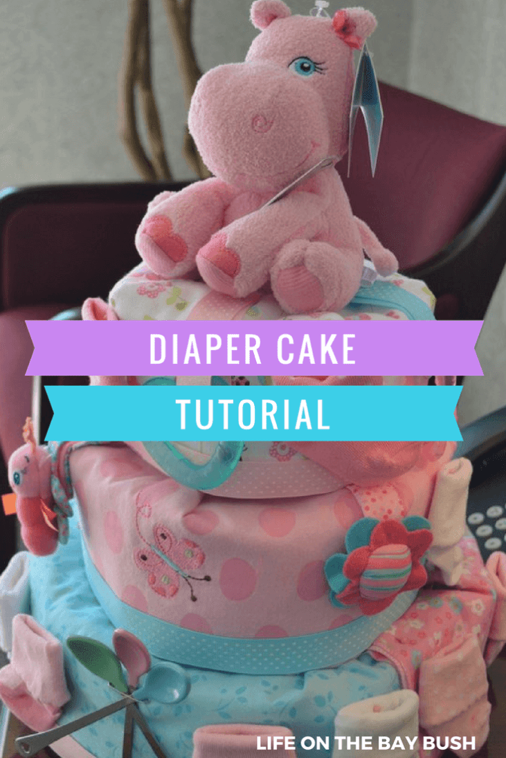 This is seriously the most beautiful diaper cake ever! And the tutorial sounds really easy!