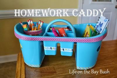 Get your homework act together with a DIY Homework Caddy to corral all those homework supplies. Get #organized for #backtoschool
