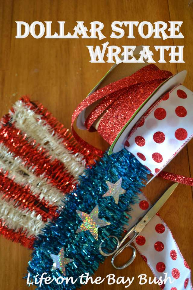 July 4th Dollar Store Wreath