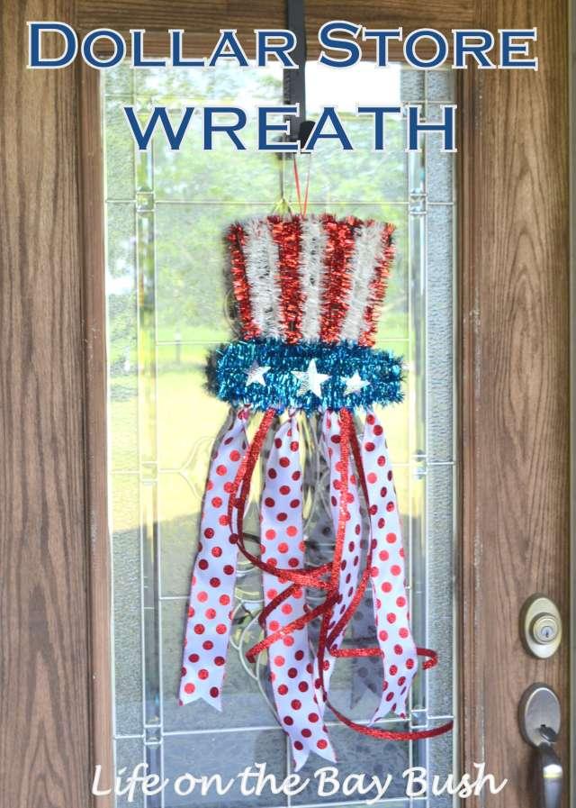 Cute Easy July 4th Wreath
