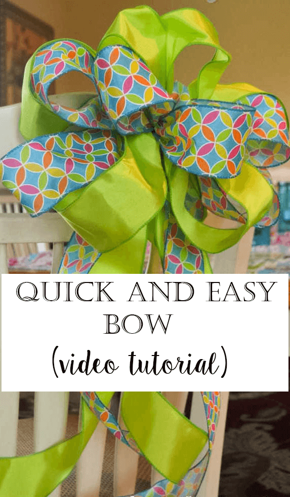 Quick and Easy tutorial of how to tie a bow using two different kinds of ribbon. Video tutorial! So easy!