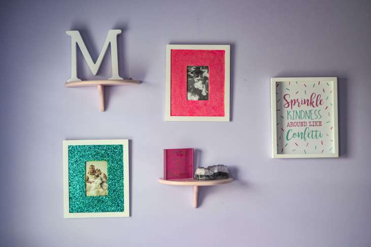 Glitter frames! Upcycled from old frames, modge podge and glitter!