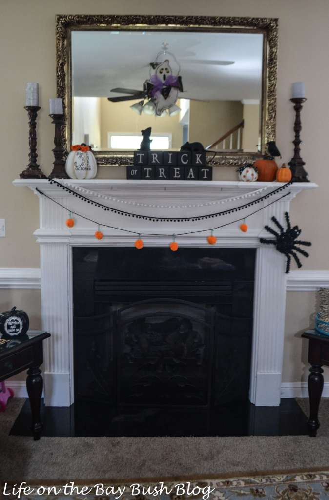 Cute and Spooky Halloween Mantel