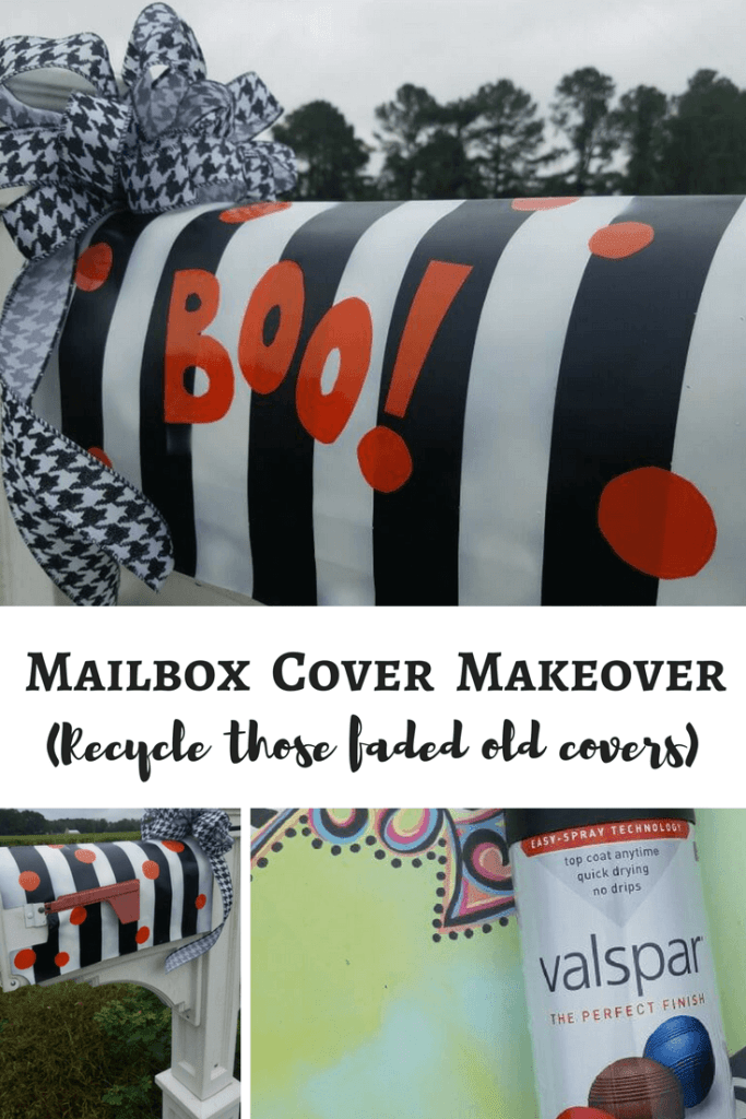 Did you know you can paint your old faded mailbox covers? A little spray paint recycled this old cover and gave it an adorable mailbox cover makeover!