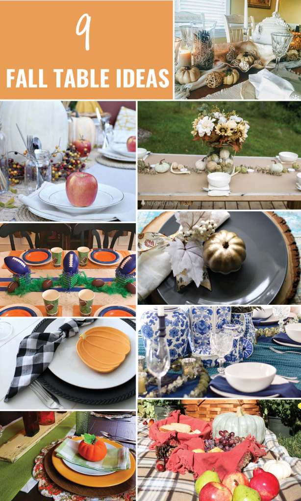 Need some fresh ideas for your Fall Table? Check out these pretty fall tables!