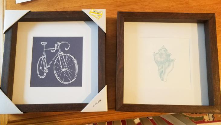 Easy DIY Project! Take clearance art frames and replace the artwork with free printables to match your decor! #upcycledartwork #upcycle #beginnerDIY