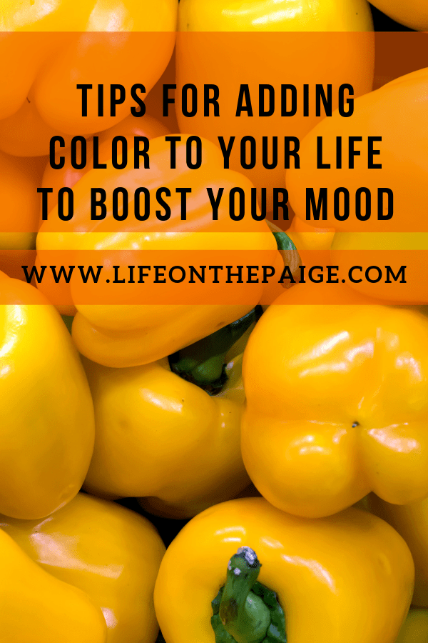 Tips on adding color to your life to boost your mood
