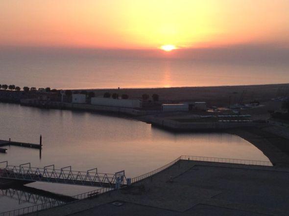 Sunset in Musannah in Oman