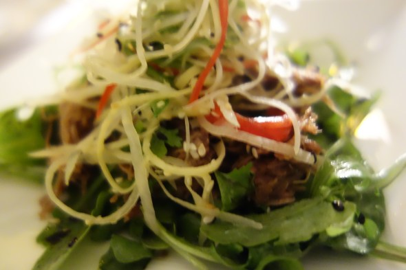 Crispy Duck salad at Opal by Gordon Ramsay
