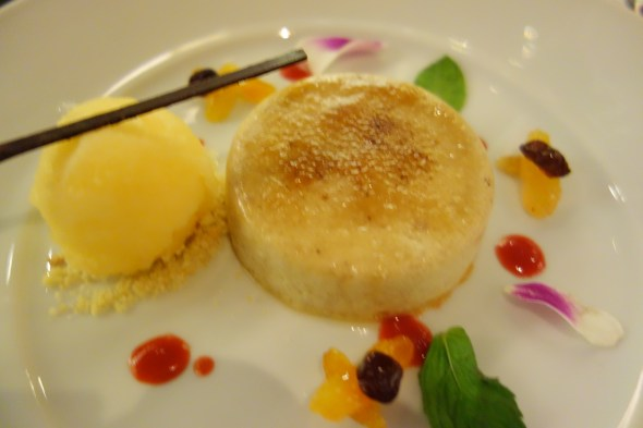 Too pretty to eat - Custard Apple Creme Brulee