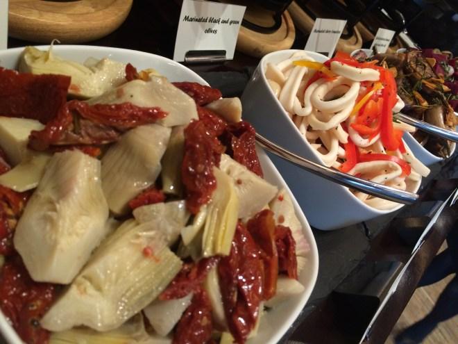 The cold tapas starter buffet