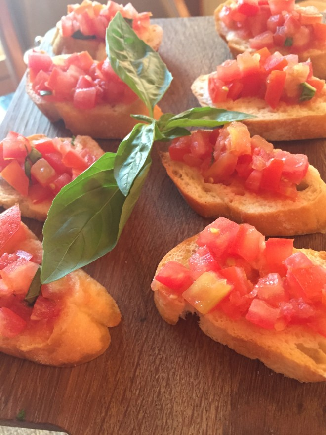 Bruschetta to warm up