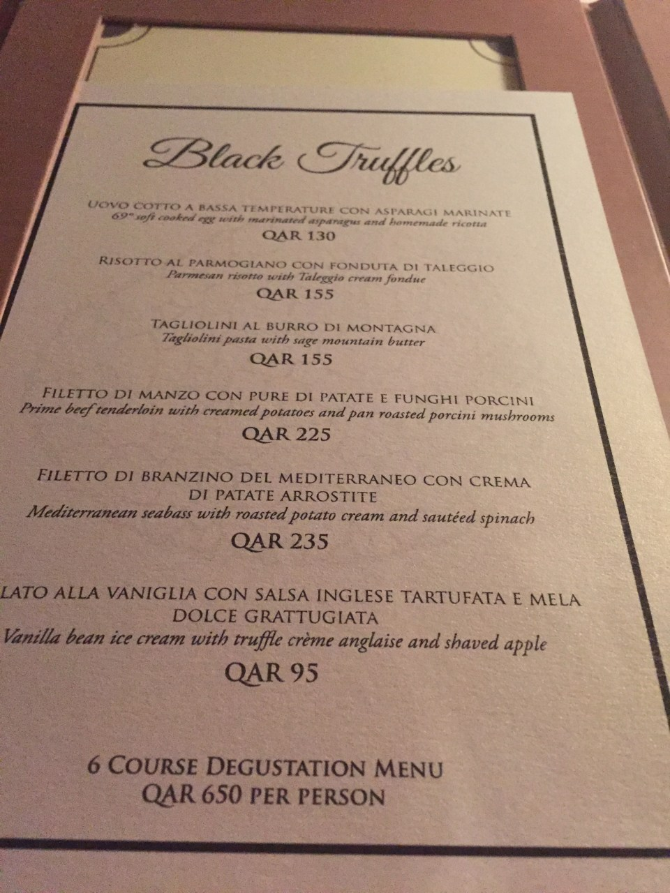 black truffle Doha Four seaons