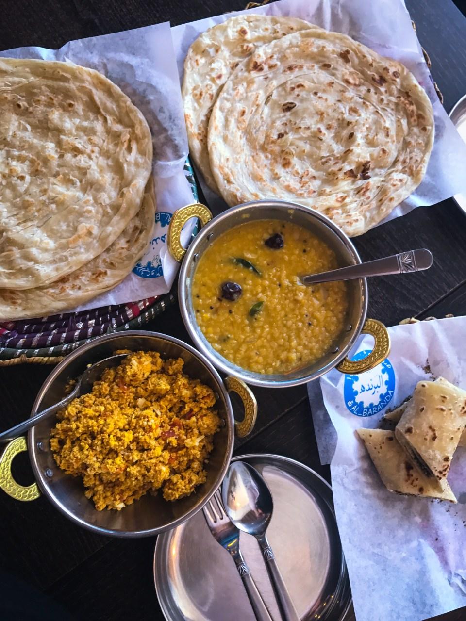 Qatari food at Al Baranda