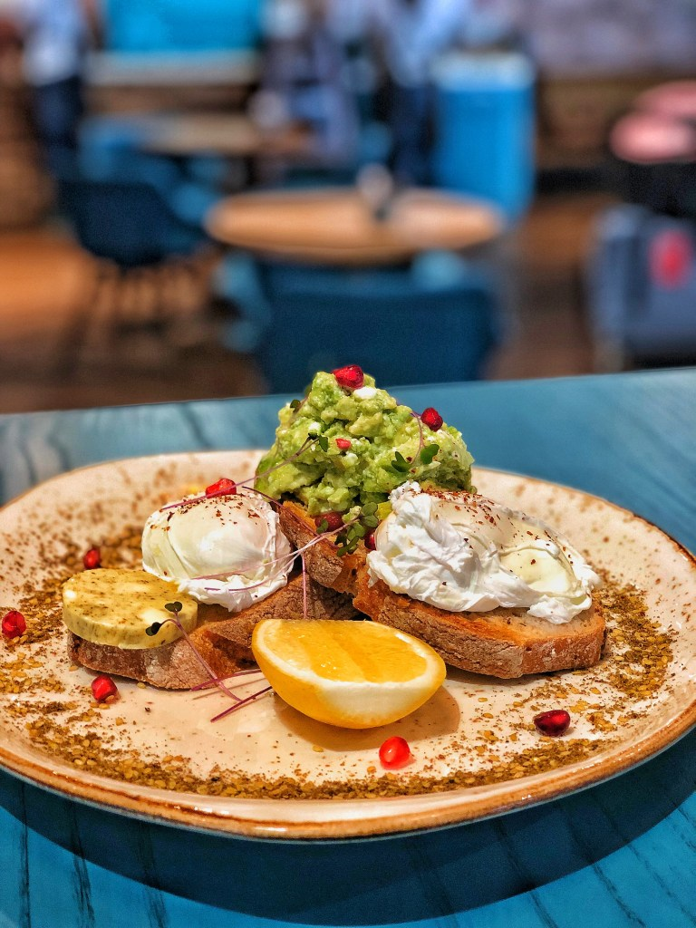 Ones of the Best restaurant dishes in Doha - smashed avo at Patissez