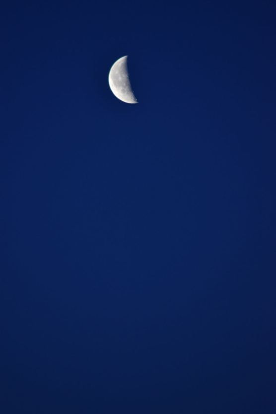 The Moon at first light