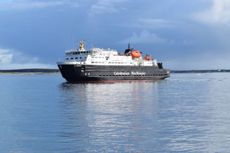 MV Clansman in Gott Bay Tiree on the approach to the pier