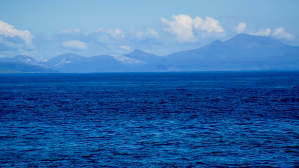 View over to Mull from the Pier at Scarinish